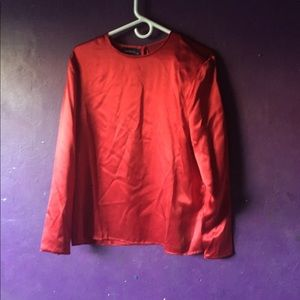Charter Club blouse size 8 Red